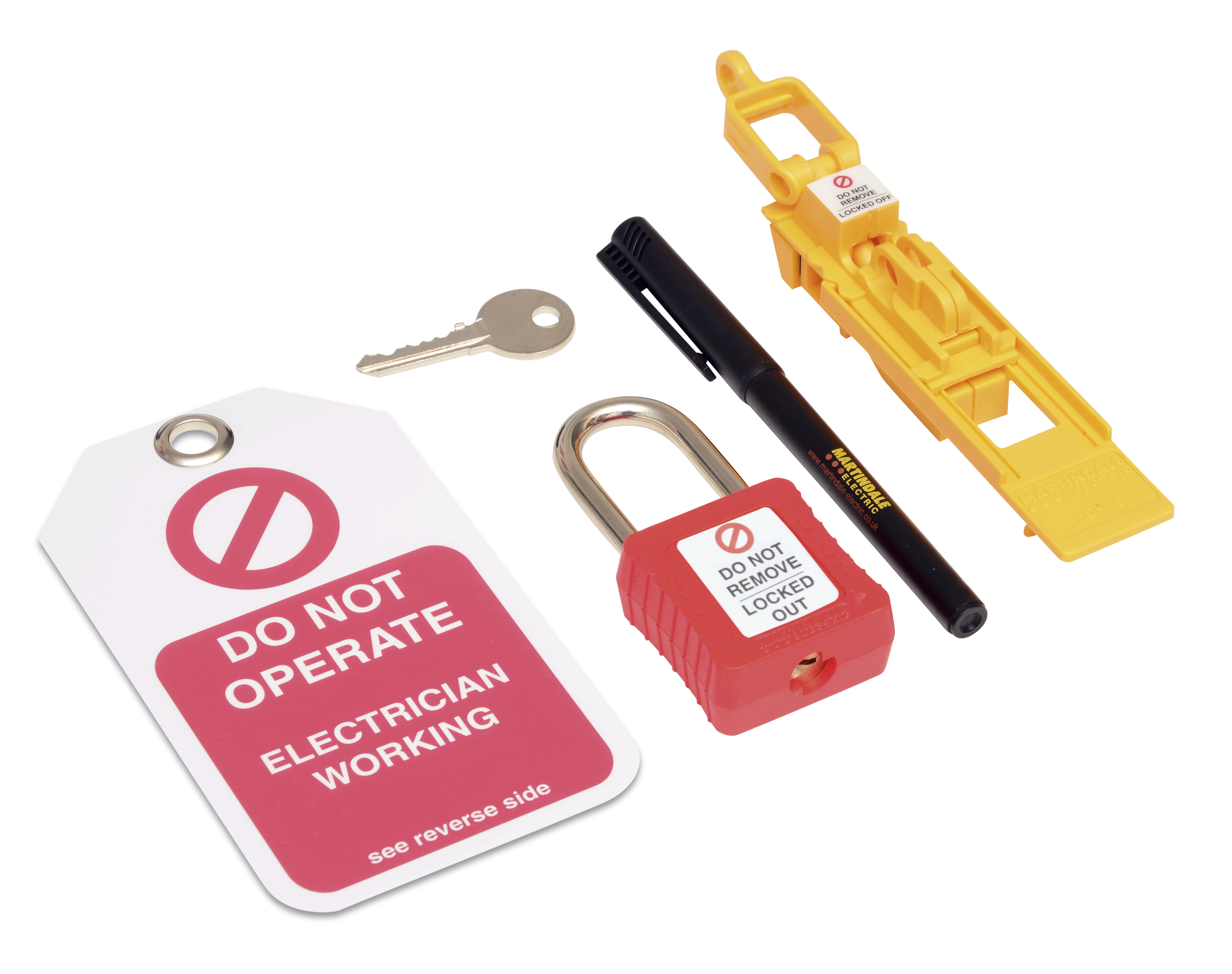 LOKKIT6 Universal Fuse Carrier Lock-out kit on panel lockout, transformer lockout, electrical plug lockout, switch lockout, hose bibb lockout,