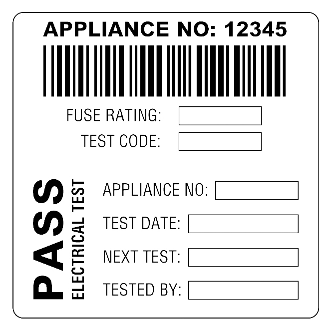 martindale bar2 combined barcode  u0026 pass pat test labels