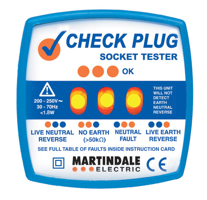 Electrical Socket Tester : Martindale classic check plug socket tester
