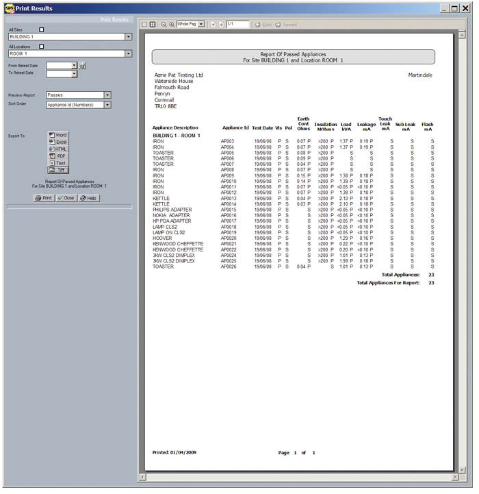 Mpatsuite pat testing software martindale mpatsuite pat testing software yadclub Images