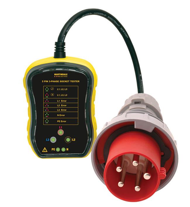 Martindale Pc105 3 Phase Industrial Socket Tester