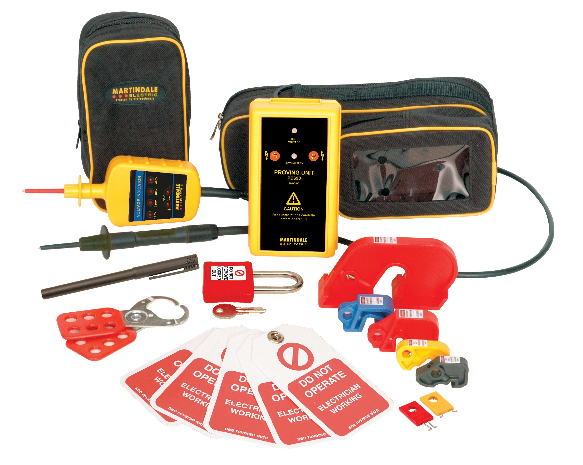 Electrical Test Equipment : Martindale voltage indicator proving device lock out kit