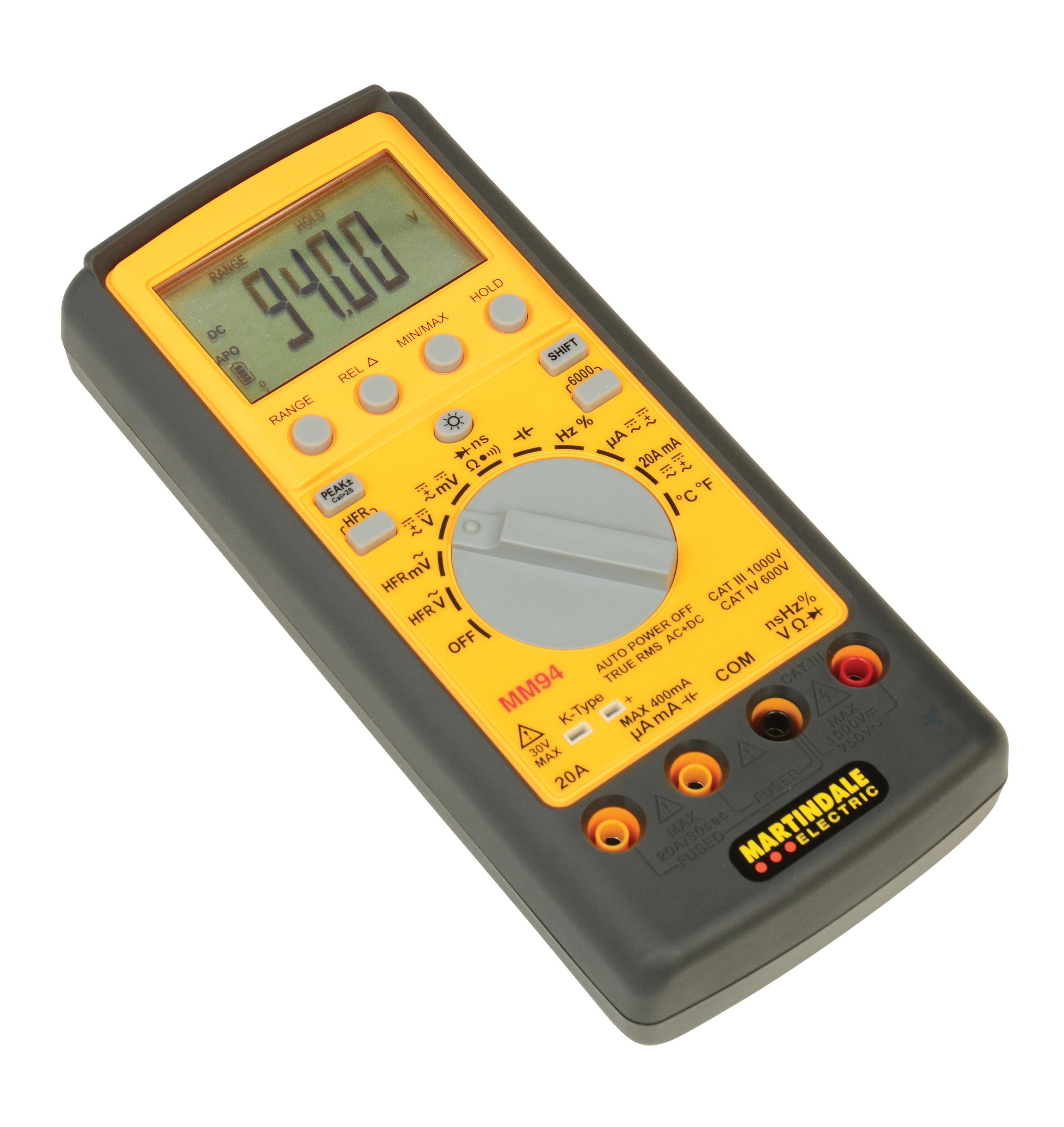 Mm94 True Rms Digital Multimeter Electronic Multimeters Martindale